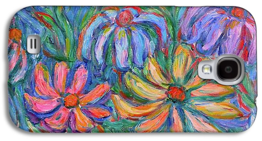 Flowers Galaxy S4 Case featuring the painting Imaginary Flowers by Kendall Kessler