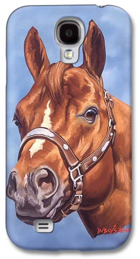 Quarter Horse Galaxy S4 Case featuring the painting Impressive by Howard Dubois