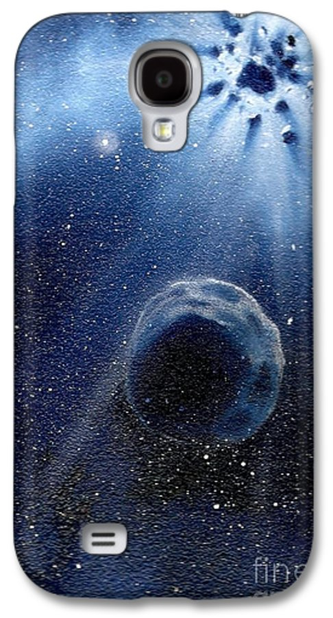 Outerspace Galaxy S4 Case featuring the painting Impressive Impact by Murphy Elliott