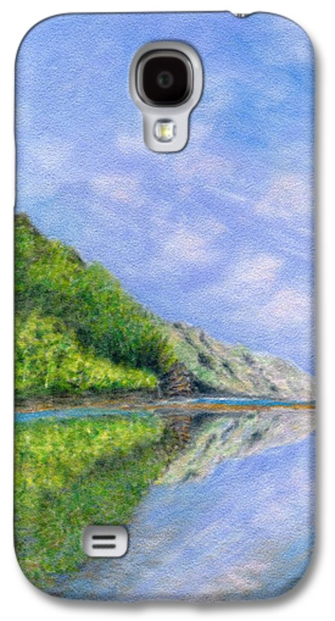 Rainbow Colors Pastel Galaxy S4 Case featuring the painting In Reflection by Kenneth Grzesik