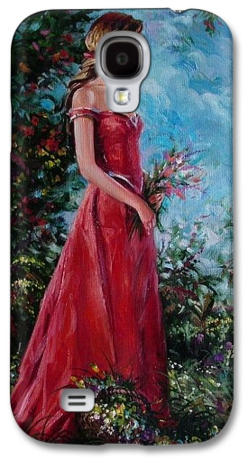 Figurative Galaxy S4 Case featuring the painting In Summer Garden by Sergey Ignatenko