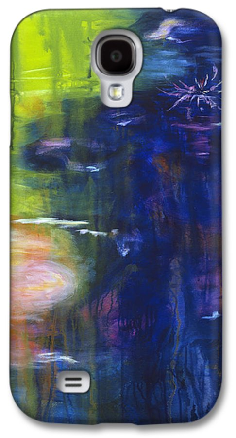 Abstract Galaxy S4 Case featuring the painting In The Flow by Tara Moorman