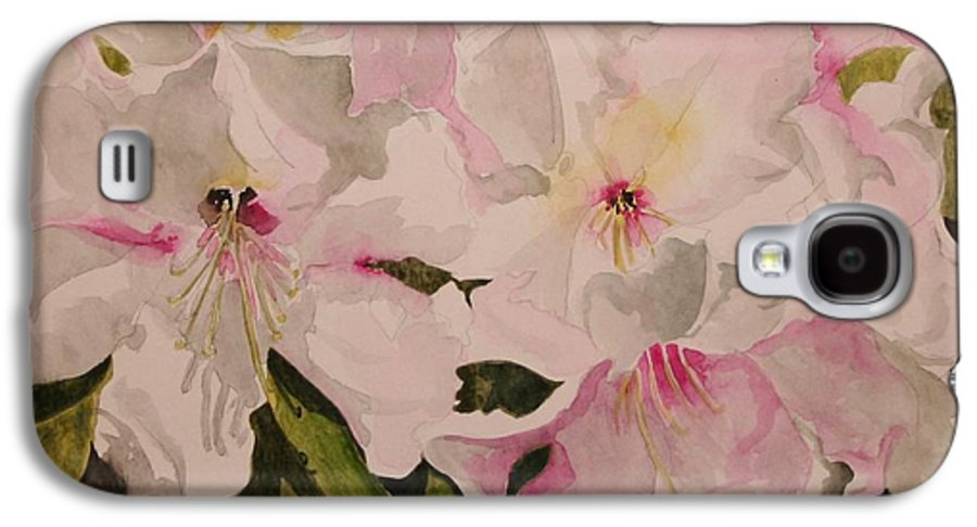 Pink Galaxy S4 Case featuring the painting In The Pink by Jean Blackmer