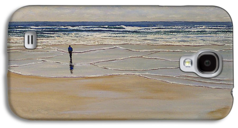 Beach Walk Galaxy S4 Case featuring the painting Incoming Tide by Frank Wilson