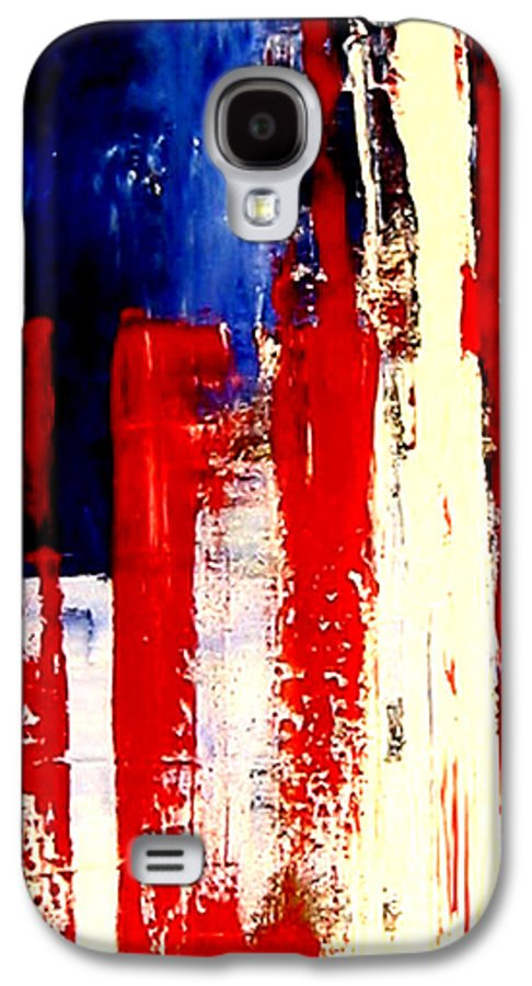 Flag Galaxy S4 Case featuring the painting Independence Day by Charles Jos Biviano