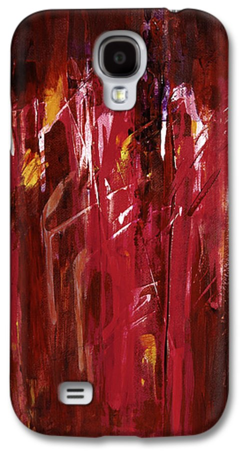Abstract Galaxy S4 Case featuring the painting Initiation by Tara Moorman