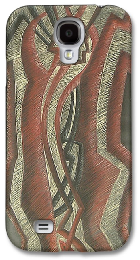 Donald+burroughs Galaxy S4 Case featuring the drawing Inner Turmoil Original by Donald Burroughs