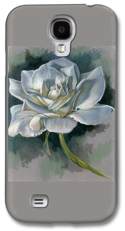 Rose Galaxy S4 Case featuring the mixed media Innocence by Barbara Keith