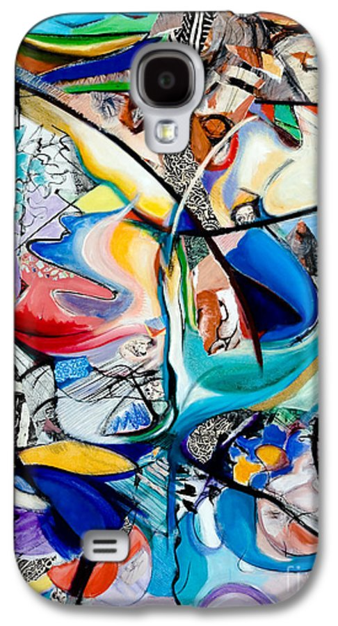 Abstract Galaxy S4 Case featuring the painting Intimate Glimpses - Journey Of Life by Kerryn Madsen-Pietsch