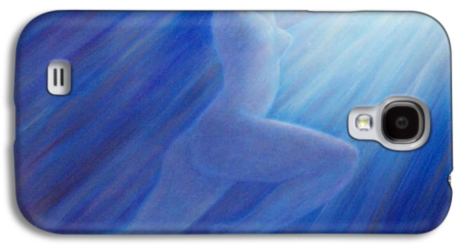 Spiritual Galaxy S4 Case featuring the painting Into The Light by Brian Commerford