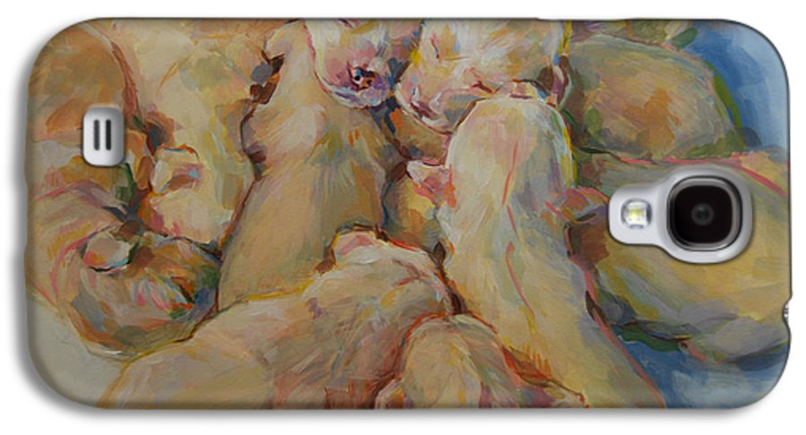 Puppies Galaxy S4 Case featuring the painting Introducing The Vs by Kimberly Santini