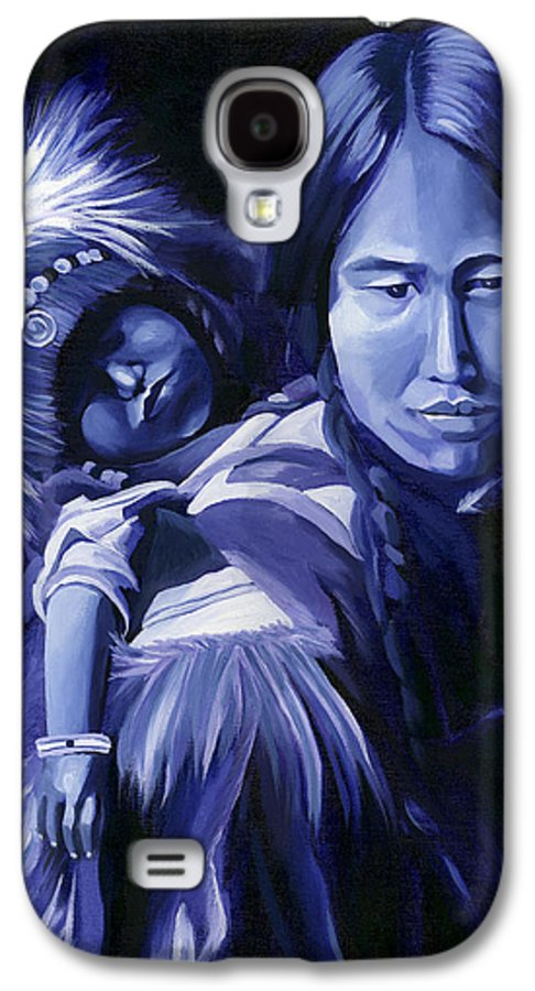 Native American Galaxy S4 Case featuring the painting Inuit Mother And Child by Nancy Griswold