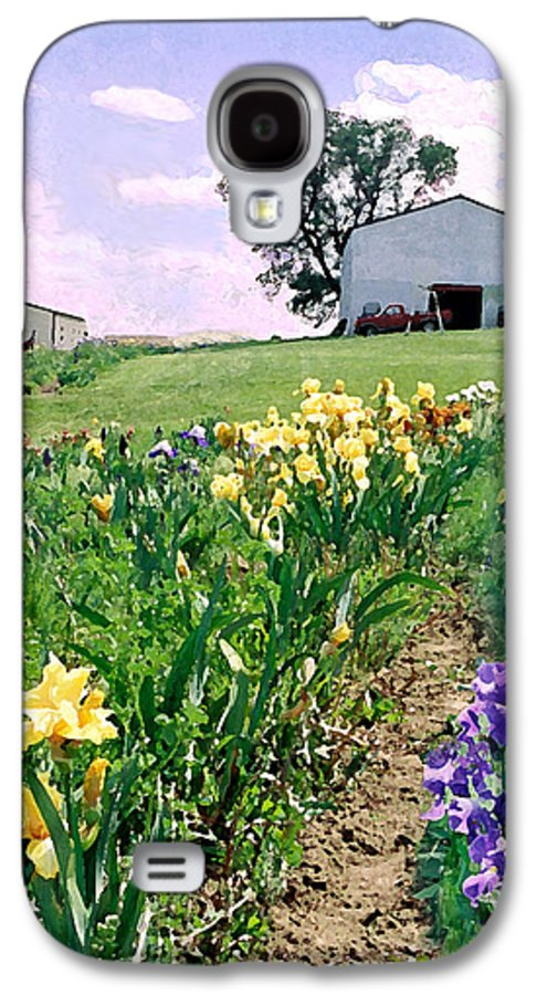 Landscape Painting Galaxy S4 Case featuring the photograph Iris Farm by Steve Karol