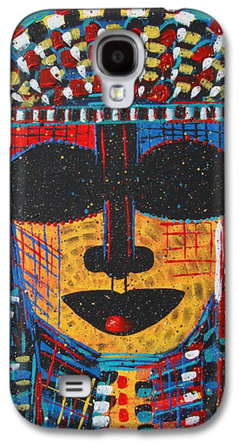 Abstract Galaxy S4 Case featuring the painting Isatoria by Natalie Holland
