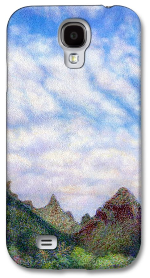 Coastal Decor Galaxy S4 Case featuring the painting Island Sky by Kenneth Grzesik