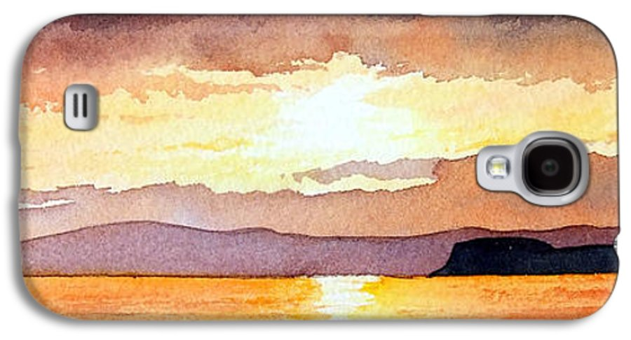 Seascape Galaxy S4 Case featuring the painting Islay And Cara From Kintyre Scotland by Paul Dene Marlor