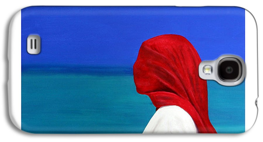 Red Galaxy S4 Case featuring the painting It Could Be You by Fiona Jack