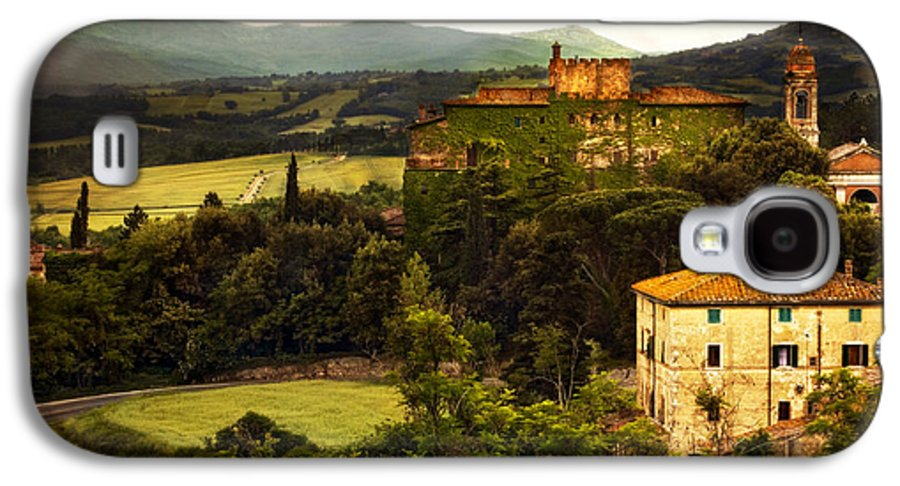 Italy Galaxy S4 Case featuring the photograph Italian Castle And Landscape by Marilyn Hunt