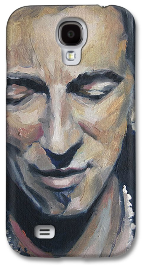 Bruce Galaxy S4 Case featuring the painting It's Boss Time II - Bruce Springsteen Portrait by Khairzul MG