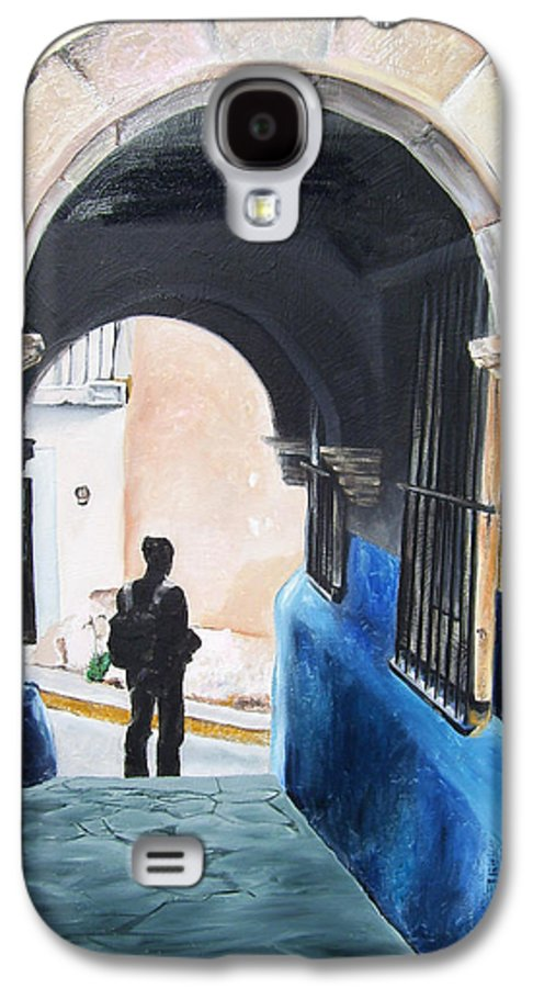 Archway Galaxy S4 Case featuring the painting Ivan In The Street by Laura Pierre-Louis