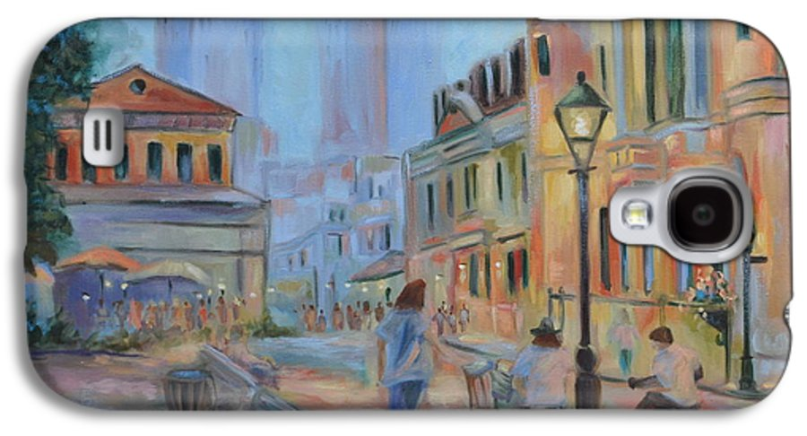 New Orleans Galaxy S4 Case featuring the painting Jackson Square Musicians by Ginger Concepcion