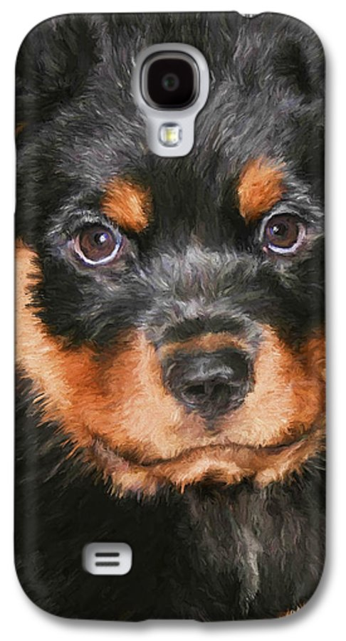 Rottweiler Galaxy S4 Case featuring the painting Jacob by David Wagner