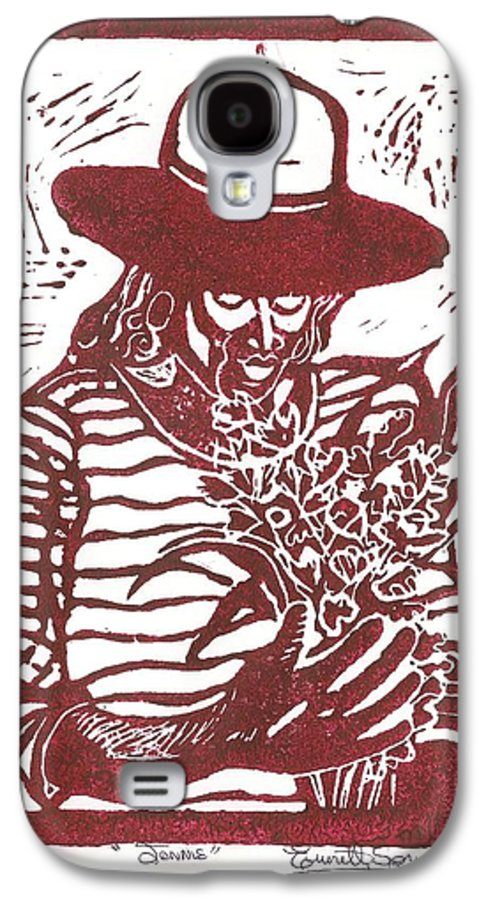 Jannie Galaxy S4 Case featuring the painting Jannie by Everett Spruill
