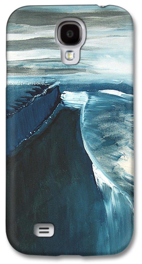 Abstract Acrylic Artist Blue Darkest Darkestartist January Painting Water Ice Galaxy S4 Case featuring the painting January by Darkest Artist