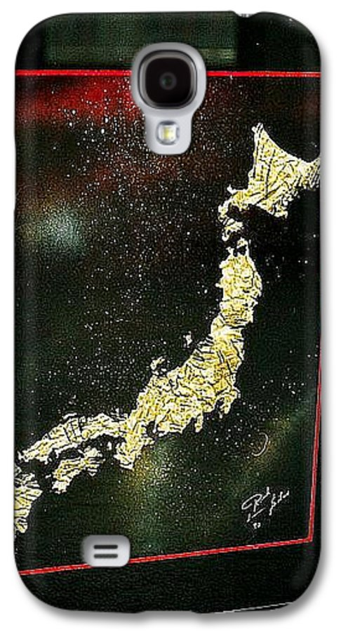 Map Galaxy S4 Case featuring the painting Japan by Rick Silas