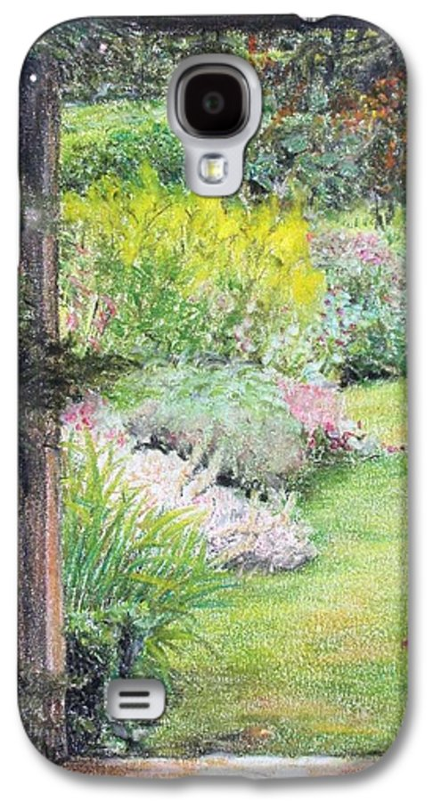 Landscape Galaxy S4 Case featuring the drawing Jardin by Muriel Dolemieux