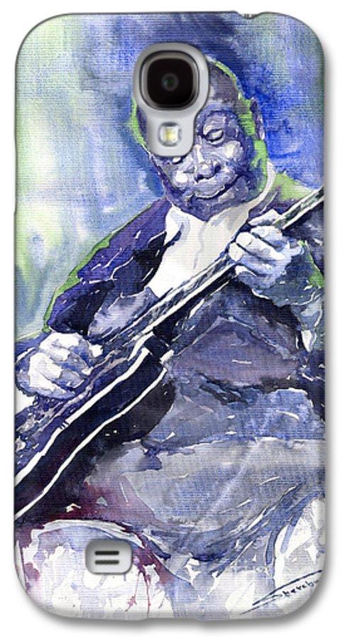 Jazz Galaxy S4 Case featuring the painting Jazz B B King 02 by Yuriy Shevchuk