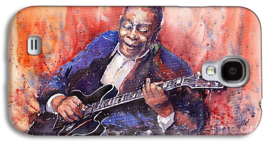 Jazz Galaxy S4 Case featuring the painting Jazz B B King 06 A by Yuriy Shevchuk