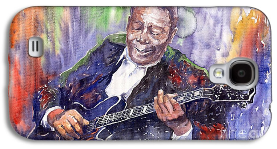 Jazz Galaxy S4 Case featuring the painting Jazz B B King 06 by Yuriy Shevchuk