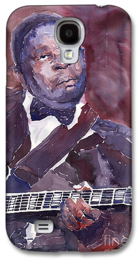 Jazz Bbking Guitarist Blues Portret Figurative Music Galaxy S4 Case featuring the painting Jazz B B King by Yuriy Shevchuk