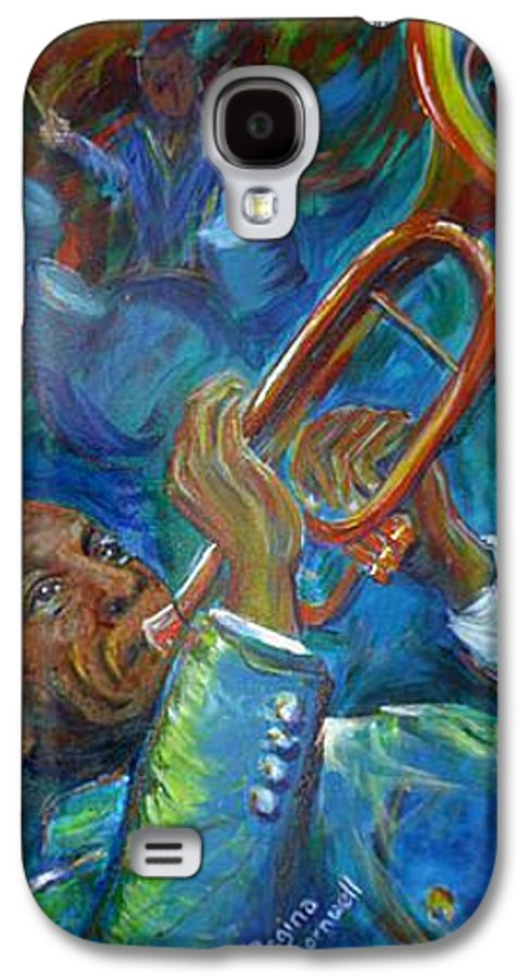 Jazz Galaxy S4 Case featuring the painting Jazz Man by Regina Walsh