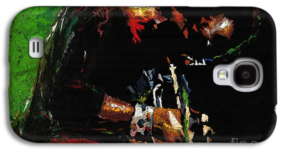 Jazz Galaxy S4 Case featuring the painting Jazz Miles Davis 1 by Yuriy Shevchuk