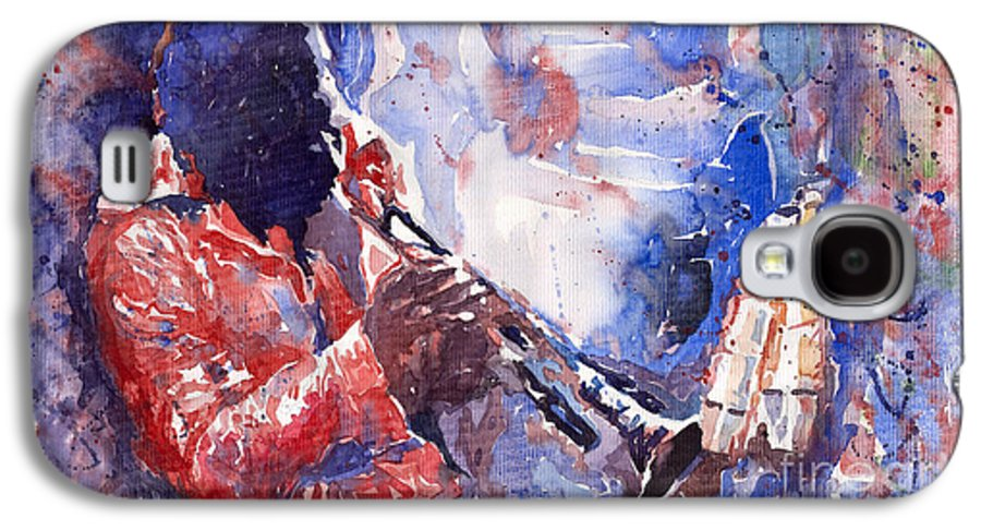 Jazz Galaxy S4 Case featuring the painting Jazz Miles Davis 15 by Yuriy Shevchuk