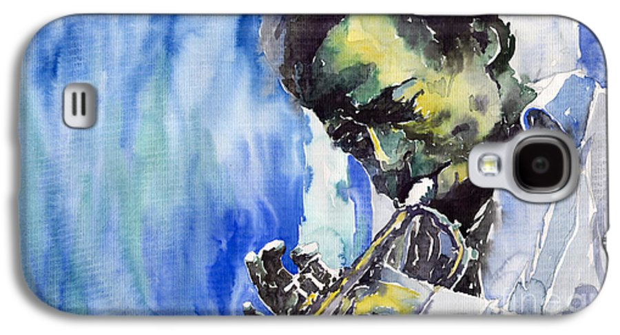 Galaxy S4 Case featuring the painting Jazz Miles Davis 5 by Yuriy Shevchuk