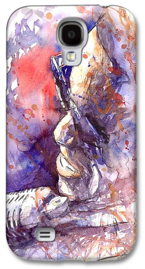 Portret Galaxy S4 Case featuring the painting Jazz Ray Charles by Yuriy Shevchuk