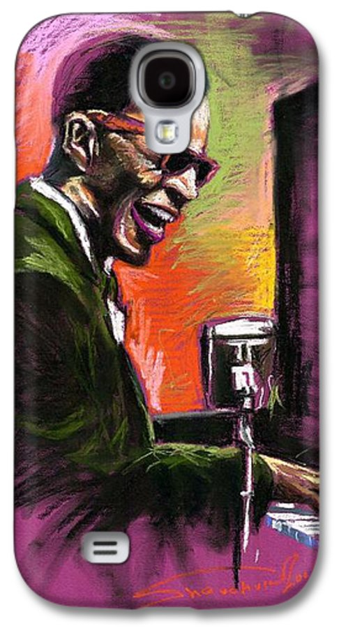 Galaxy S4 Case featuring the painting Jazz. Ray Charles.2. by Yuriy Shevchuk