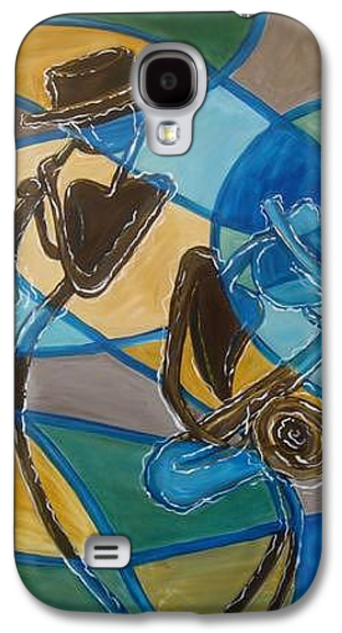 Jazz Galaxy S4 Case featuring the painting Jazz Raz by Regina Walsh