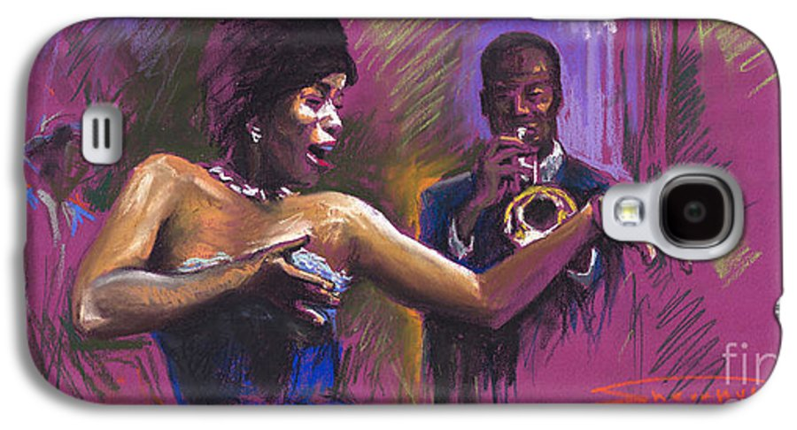 Jazz Galaxy S4 Case featuring the painting Jazz Song.2. by Yuriy Shevchuk