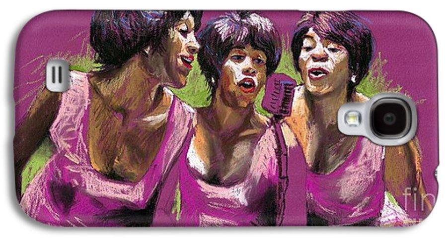 Jazz Galaxy S4 Case featuring the painting Jazz Trio by Yuriy Shevchuk