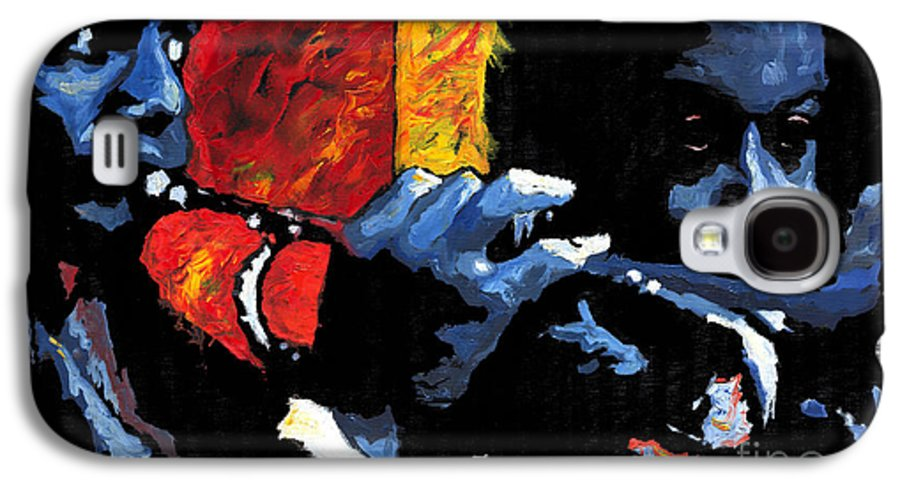 Jazz Galaxy S4 Case featuring the painting Jazz Trumpeters by Yuriy Shevchuk