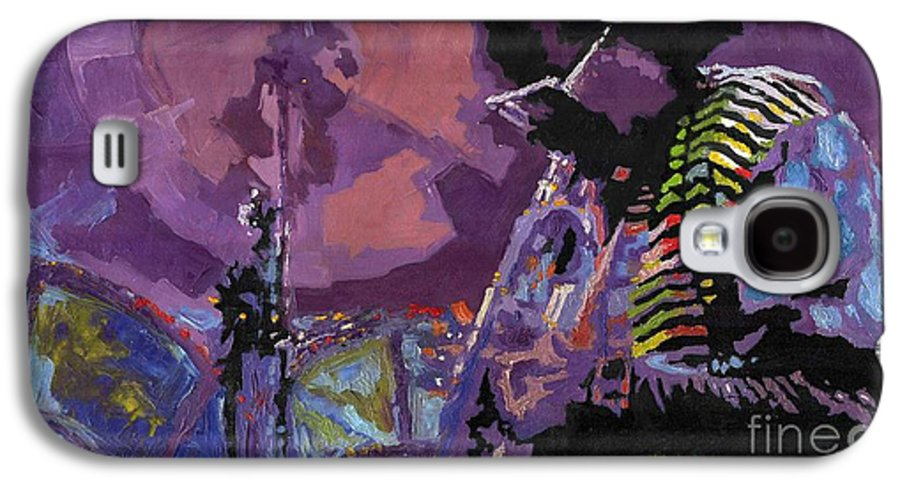 Jazz Galaxy S4 Case featuring the painting Jazz.miles Davis.4. by Yuriy Shevchuk