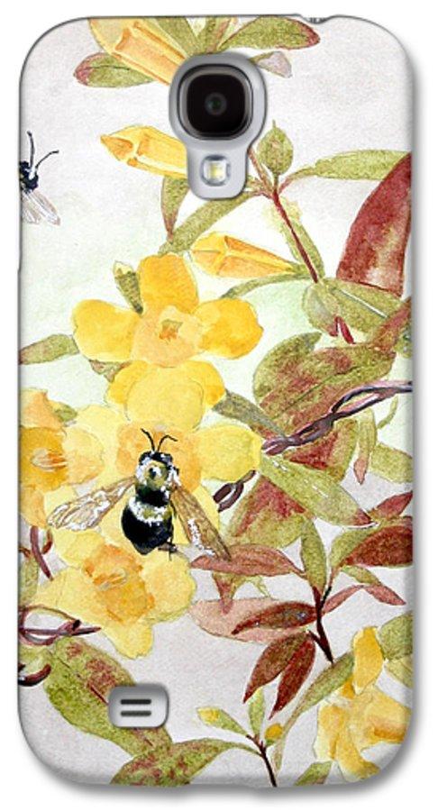 Jasmine Galaxy S4 Case featuring the painting Jessamine Bee Mine by Jean Blackmer