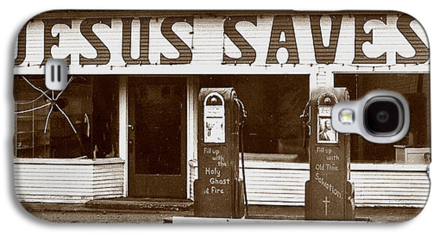 Jesus Galaxy S4 Case featuring the photograph Jesus Saves 1973 by Michael Ziegler