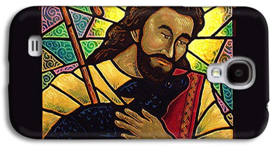 Jesus Galaxy S4 Case featuring the painting Jesus The Good Shepherd by Jim Harris