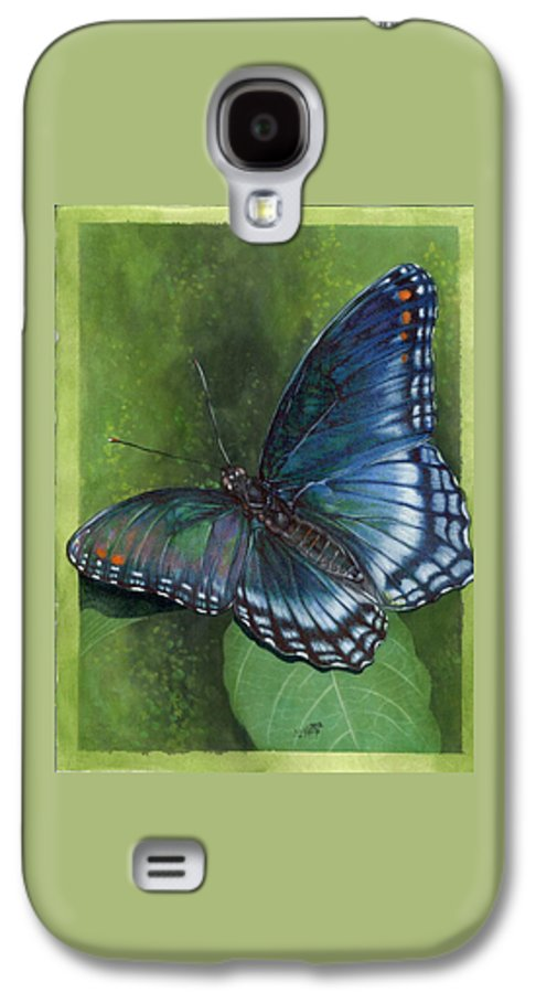 Insects Galaxy S4 Case featuring the mixed media Jewel Tones by Barbara Keith