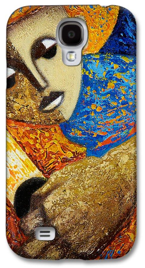Color Galaxy S4 Case featuring the painting Jibaro Y Sol by Oscar Ortiz